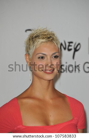 """LOS ANGELES, CA - AUGUST 1, 2010: Morena Baccarin - star of """"V"""" - at the Disney ABC TV All Star Mixer at the Beverly Hilton Hotel, Beverly Hills, CA. - stock photo"""