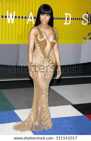 LOS ANGELES, CA - AUGUST 30, 2015: Nicki Minaj at the 2015 MTV Video Music Awards held at the Microsoft Theater in Los Angeles, USA on August 30, 2015. - stock photo