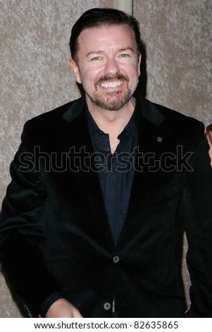 LOS ANGELES, CA - AUGUST 29: Ricky Gervais arrives at HBO's Annual Post Emmy Awards Party at the Pacific Design Center on August 29, 2010 in West Hollywood, California. - stock photo