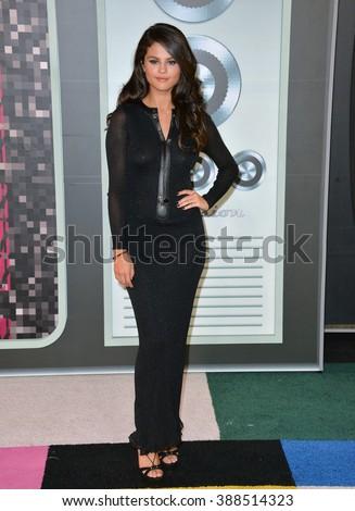 LOS ANGELES, CA - AUGUST 30, 2015: Selena Gomez at the 2015 MTV Video Music Awards at the Microsoft Theatre LA Live. - stock photo