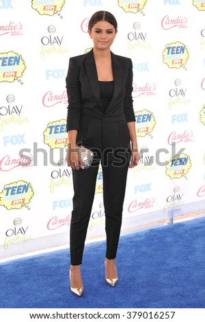 LOS ANGELES, CA - AUGUST 10, 2014: Selena Gomez at the 2014 Teen Choice Awards at the Shrine Auditorium. - stock photo