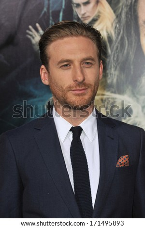 "LOS ANGELES, CA - DECEMBER 2, 2013: Dean O'Gorman at the Los Angeles premiere of his movie ""The Hobbit: The Desolation of Smaug"" at the Dolby Theatre, Hollywood.  - stock photo"