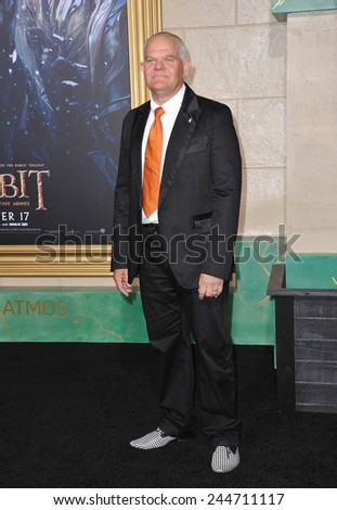 """LOS ANGELES, CA - DECEMBER 9, 2014: Mark Hadlow at the Los Angeles premiere of his movie """"The Hobbit: The Battle of the Five Armies"""" at the Dolby Theatre, Hollywood.  - stock photo"""