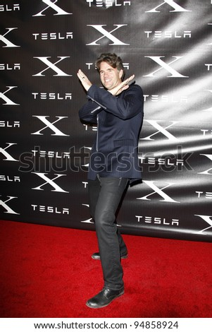 LOS ANGELES, CA - FEB 9: Franz von Holzhausen at the Tesla Worldwide Debut of Model X on February 9, 2012 in Hawthorne, Los Angeles, California - stock photo