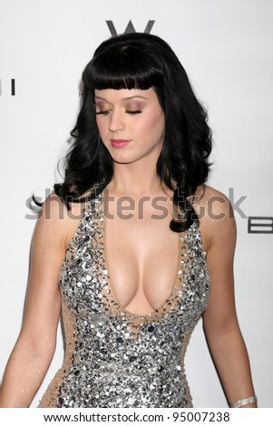 LOS ANGELES, CA - FEB 13: Katy Perry at the EMI GRAMMY After-Party at Milk Studios on February 13, 2011 in Los Angeles, California - stock photo