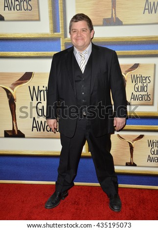 LOS ANGELES, CA - FEBRUARY 13, 2016: Actor Patton Oswald at the 2016 Writers Guild Awards at the Hyatt Regency Century Plaza Hotel. - stock photo