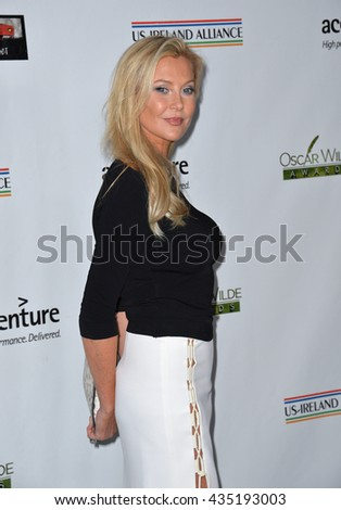 LOS ANGELES, CA - FEBRUARY 25, 2016: Actress Alison Doody at the US-Ireland Alliance's 11th Annual Oscar Wilde pre-Academy Awards event honoring the Irish in Film.  - stock photo