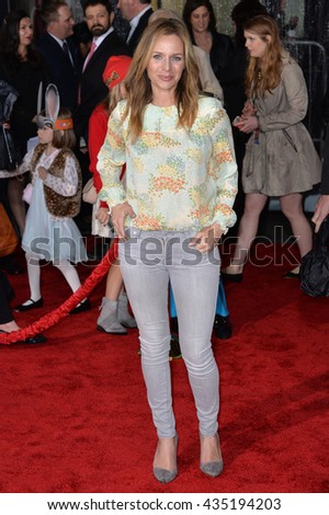 """LOS ANGELES, CA - FEBRUARY 17, 2016: Actress Jessalyn Gilsig at the premiere of Disney's """"Zootopia"""" at the El Capitan Theatre, Hollywood. - stock photo"""