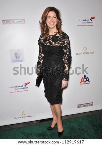 LOS ANGELES, CA - FEBRUARY 19, 2009: Dana Delany at the US-Ireland Alliance Oscar Wilde Gala at the Ebell Club, Los Angeles. - stock photo