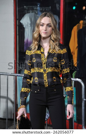 """LOS ANGELES, CA - FEBRUARY 2, 2015: Jamie Clayton at the Los Angeles premiere of """"Jupiter Ascending"""" at the TCL Chinese Theatre, Hollywood.  - stock photo"""
