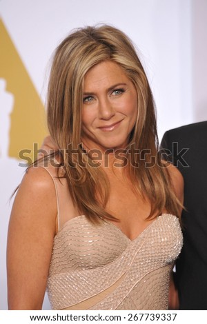 LOS ANGELES, CA - FEBRUARY 22, 2015: Jennifer Aniston at the 87th Annual Academy Awards at the Dolby Theatre, Hollywood.  - stock photo