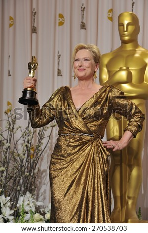 LOS ANGELES, CA - FEBRUARY 26, 2012: Meryl Streep at the 82nd Academy Awards at the Hollywood & Highland Theatre, Hollywood.  - stock photo