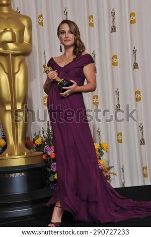 LOS ANGELES, CA - FEBRUARY 27, 2011: Natalie Portman at the 83rd Academy Awards at the Kodak Theatre, Hollywood. - stock photo