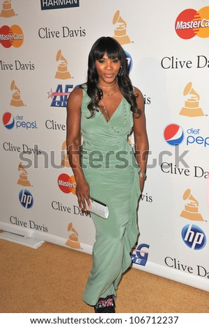 LOS ANGELES, CA - FEBRUARY 12, 2011: Serena Williams at the 2011 Clive Davis pre-Grammy party at the Beverly Hilton Hotel. February 12, 2011  Beverly Hills, CA - stock photo