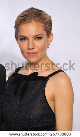 LOS ANGELES, CA - FEBRUARY 22, 2015: Sienna Miller at the 87th Annual Academy Awards at the Dolby Theatre, Hollywood.  - stock photo
