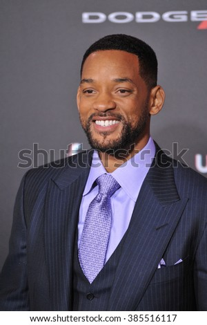 """LOS ANGELES, CA - FEBRUARY 24, 2015: Will Smith at the Los Angeles premiere of his movie """"Focus"""" at the TCL Chinese Theatre, Hollywood. - stock photo"""