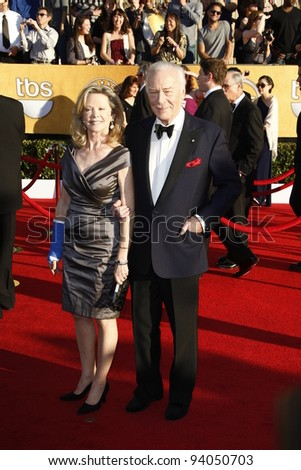 LOS ANGELES, CA - JAN 29: Christopher Plummer at the 18th annual Screen Actor Guild Awards at the Shrine Auditorium on January 29, 2012 in Los Angeles, California - stock photo