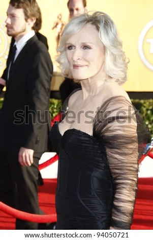 LOS ANGELES, CA - JAN 29: Glenn Close at the 18th annual Screen Actor Guild Awards at the Shrine Auditorium on January 29, 2012 in Los Angeles, California - stock photo
