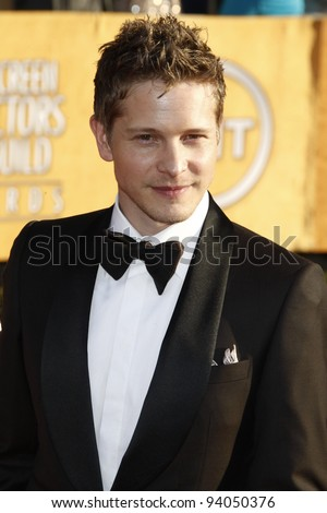 LOS ANGELES, CA - JAN 29: Matt Czuchry at the 18th annual Screen Actor Guild Awards at theShrine Auditorium on January 29, 2012 in Los Angeles, California - stock photo