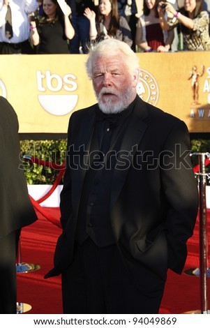 LOS ANGELES, CA - JAN 29: Nick Nolte at the 18th annual Screen Actor Guild Awards at theShrine Auditorium on January 29, 2012 in Los Angeles, California - stock photo