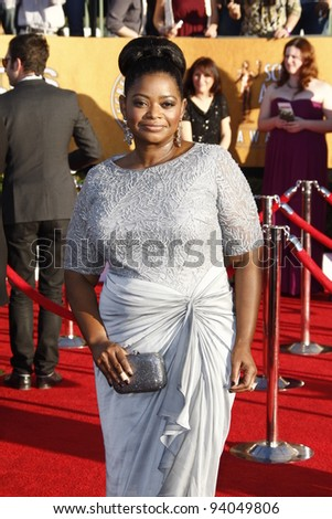 LOS ANGELES, CA - JAN 29: Octavia Spencer at the 18th annual Screen Actor Guild Awards at theShrine Auditorium on January 29, 2012 in Los Angeles, California - stock photo