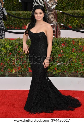 LOS ANGELES, CA - JANUARY 30, 2016: Actress Ariel Winter at the 22nd Annual Screen Actors Guild Awards at the Shrine Auditorium - stock photo