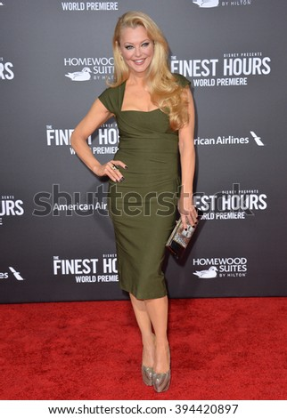 """LOS ANGELES, CA - JANUARY 25, 2016: Actress Charlotte Ross at the premiere of """"The Finest Hours"""" at the TCL Chinese Theatre, Hollywood. - stock photo"""