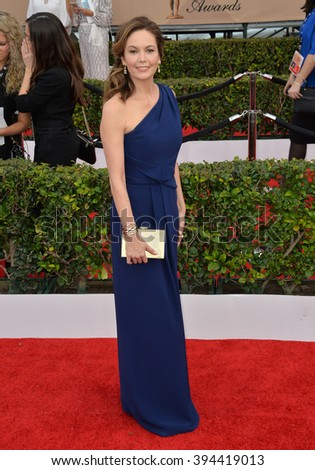LOS ANGELES, CA - JANUARY 30, 2016: Actress Diane Lane at the 22nd Annual Screen Actors Guild Awards at the Shrine Auditorium - stock photo