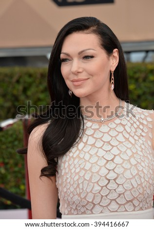 LOS ANGELES, CA - JANUARY 30, 2016: Actress Laura Prepon at the 22nd Annual Screen Actors Guild Awards at the Shrine Auditorium - stock photo