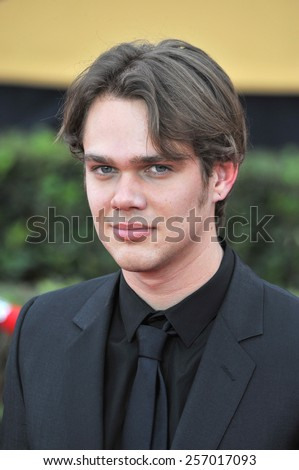 LOS ANGELES, CA - JANUARY 25, 2015: Ellar Coltrane at the 2015 Screen Actors Guild  Awards at the Shrine Auditorium.  - stock photo