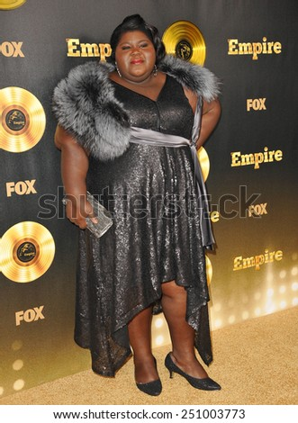 "LOS ANGELES, CA - JANUARY 6, 2015: Gabourey Sidibe at the premiere of Fox's new TV series ""Empire"" at the Cinerama Dome, Hollywood.  - stock photo"