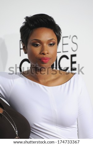 LOS ANGELES, CA - JANUARY 8, 2014: Jennifer Hudson at the 2014 People's Choice Awards at the Nokia Theatre, LA Live.  - stock photo