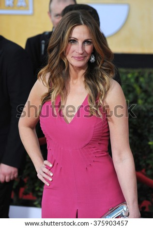 LOS ANGELES, CA - JANUARY 18, 2014: Julia Roberts at the 20th Annual Screen Actors Guild Awards at the Shrine Auditorium.