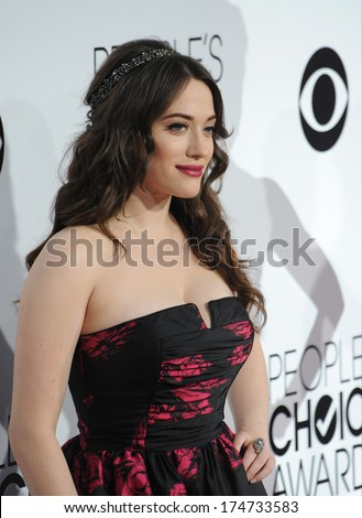 LOS ANGELES, CA - JANUARY 8, 2014: Kat Dennings at the 2014 People's Choice Awards at the Nokia Theatre, LA Live.  - stock photo