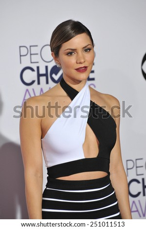 LOS ANGELES, CA - JANUARY 7, 2015: Katharine McPhee at the 2015 People's Choice  Awards at the Nokia Theatre L.A. Live downtown Los Angeles.  - stock photo