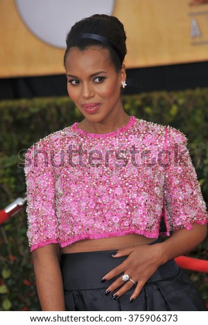 LOS ANGELES, CA - JANUARY 18, 2014: Kerry Washington at the 20th Annual Screen Actors Guild Awards at the Shrine Auditorium.