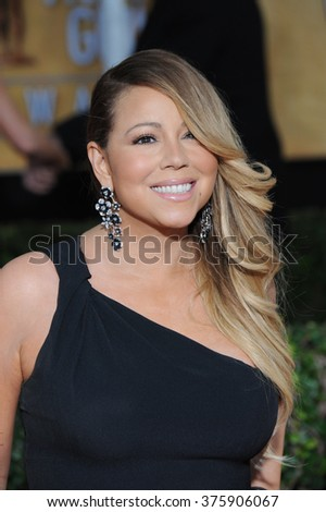 LOS ANGELES, CA - JANUARY 18, 2014: Mariah Carey at the 20th Annual Screen Actors Guild Awards at the Shrine Auditorium. - stock photo