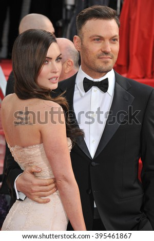 LOS ANGELES, CA - JANUARY 13, 2013: Megan Fox & Brian Austin at the 70th Golden Globe Awards at the Beverly Hilton Hotel. - stock photo