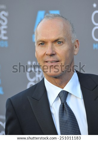 LOS ANGELES, CA - JANUARY 15, 2015: Michael Keaton at the 20th Annual Critics' Choice Movie Awards at the Hollywood Palladium.  - stock photo