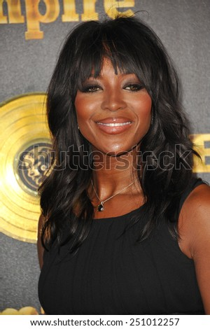 "LOS ANGELES, CA - JANUARY 6, 2015: Supermodel Naomi Campbell at the premiere of Fox's new TV series ""Empire"" at the Cinerama Dome, Hollywood.  - stock photo"