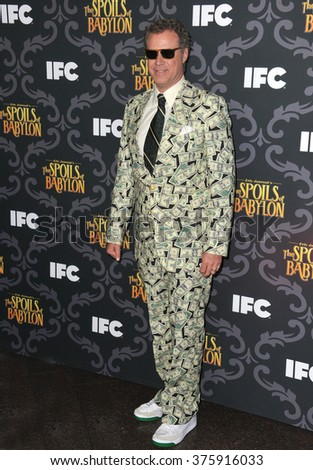 "LOS ANGELES, CA - JANUARY 7, 2014: Will Ferrell at the premiere of his TV series ""The Spoils of Babylon"" at the Directors Guild of America Theatre.
