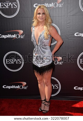 LOS ANGELES, CA - JULY 15, 2015: Britney Spears at the 2015 ESPY Awards at the Microsoft Theatre LA Live.