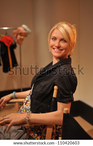 LOS ANGELES, CA - JULY 21, 2009: Cameron Diaz waxwork figure - grand opening of Madame Tussauds Hollywood. - stock photo