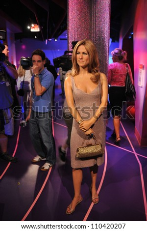 LOS ANGELES, CA - JULY 21, 2009: Jennifer Aniston waxwork figure - grand opening of Madame Tussauds Hollywood. - stock photo