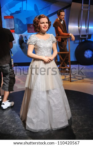 LOS ANGELES, CA - JULY 21, 2009: Judy Garland waxwork figure - grand opening of Madame Tussauds Hollywood. - stock photo