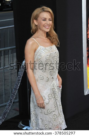 """LOS ANGELES, CA - JULY 23, 2014: Kylie Minogue at the premiere of """"Hercules"""" at the TCL Chinese Theatre, Hollywood. - stock photo"""