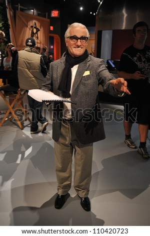 LOS ANGELES, CA - JULY 21, 2009: Martin Scorsese waxwork figure - grand opening of Madame Tussauds Hollywood. - stock photo