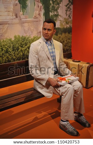 LOS ANGELES, CA - JULY 21, 2009: Tom Hanks waxwork figure - grand opening of Madame Tussauds Hollywood. - stock photo