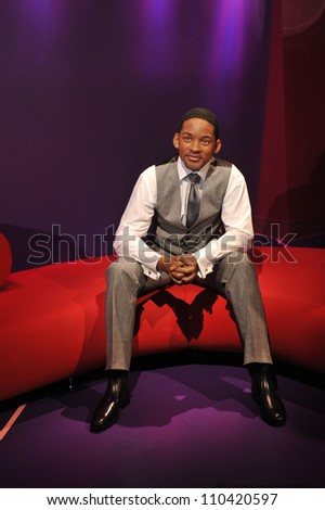 LOS ANGELES, CA - JULY 21, 2009: Will Smith waxwork figure - grand opening of Madame Tussauds Hollywood. - stock photo