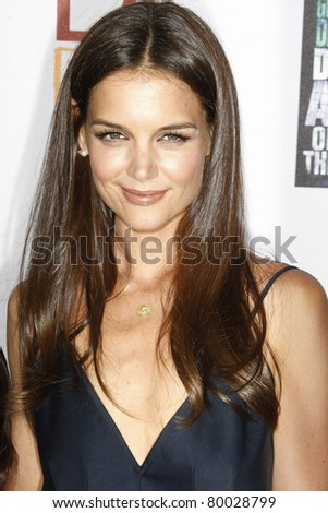 LOS ANGELES, CA - JUN 26: Katie Holmes at the premiere of 'Don't Be Afraid Of The Dark' held at the Regal Cinemas L.A. Live in Los Angeles, California on June 26, 2011. - stock photo